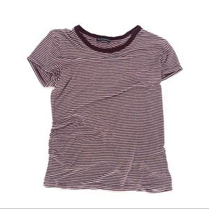 Brandy Melville red micro striped tee